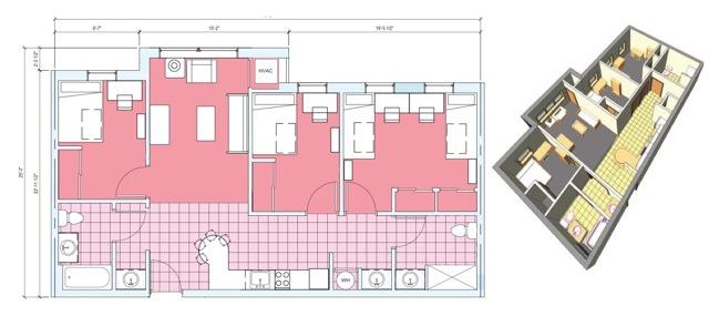 Depaul Lewis Center Floor Plan: Euclid Avenue Student Housing